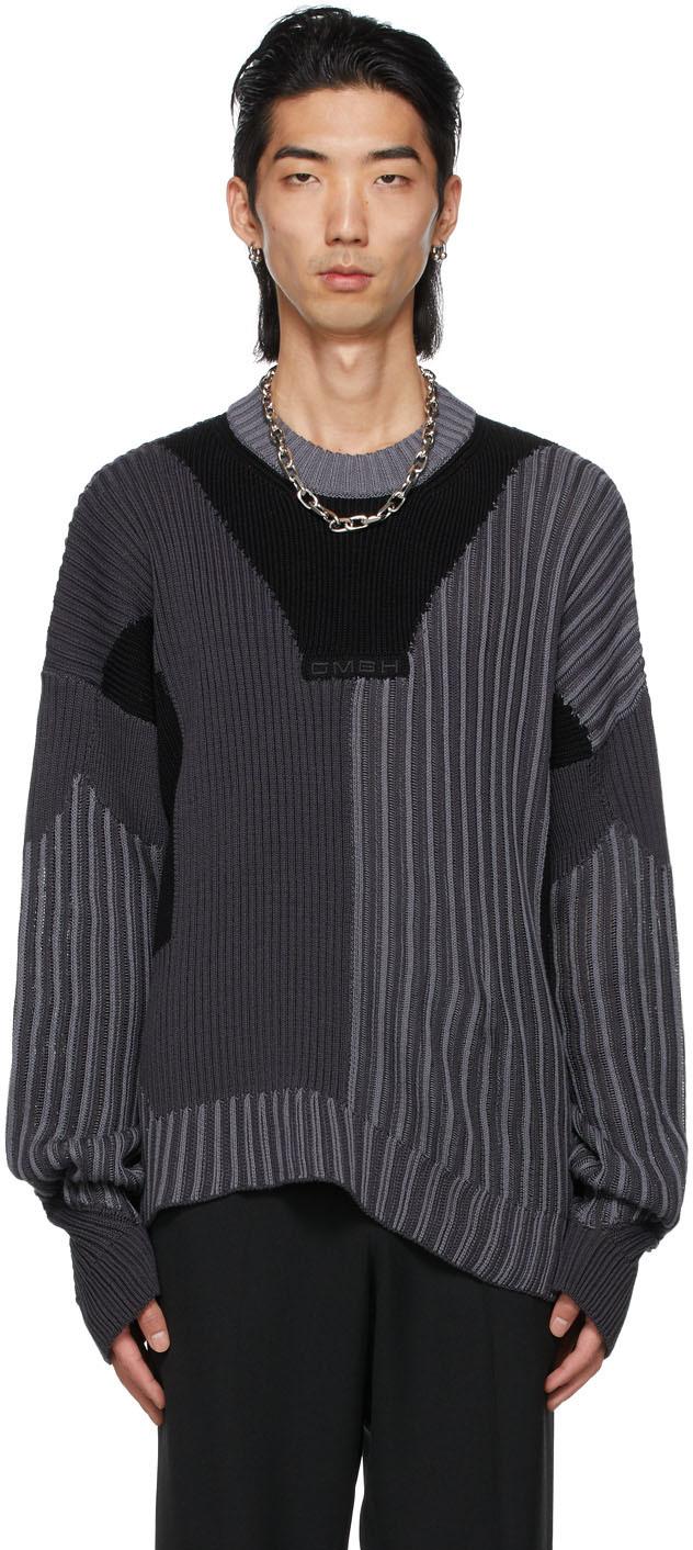 Black & Grey Knit Mies Sweaters
