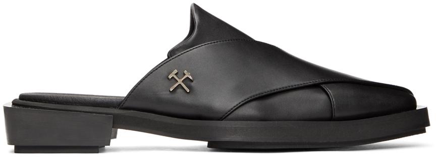 Black Chappal Loafers