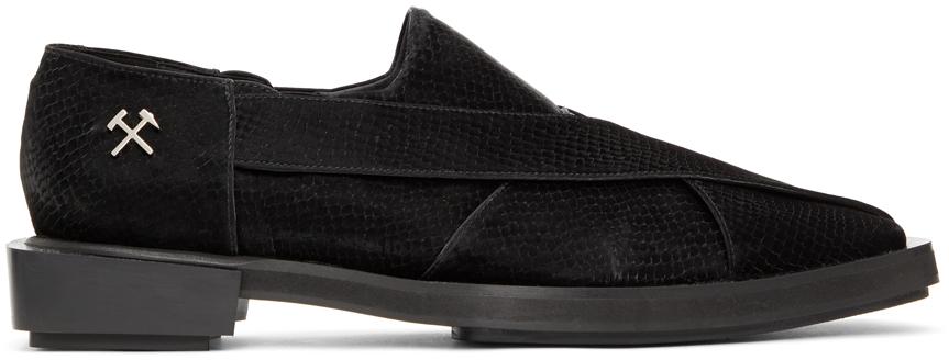 Black Snake Chappal Loafers