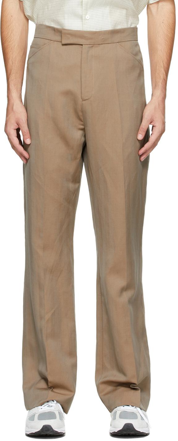 HOPE Beige Herringbone Parade Trousers