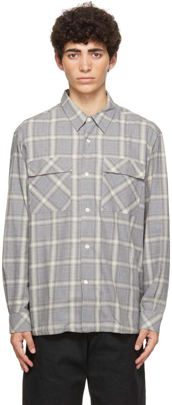 HOPE Grey Check Base Over Shirt