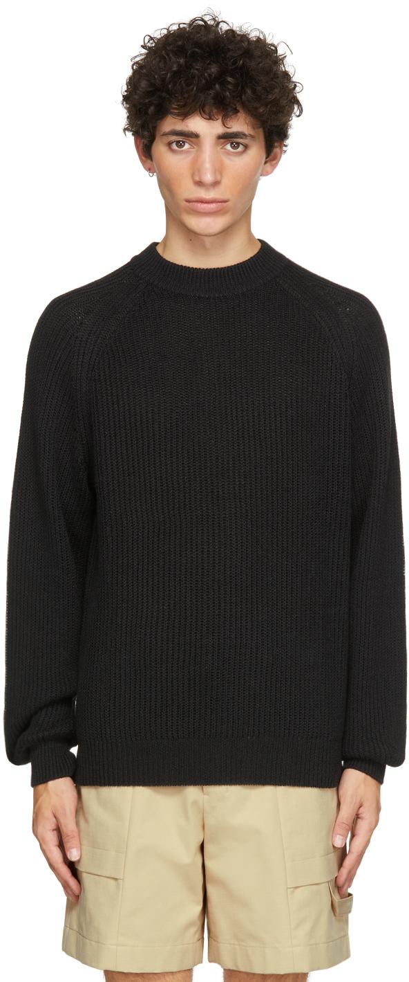 HOPE Black Linen Burly Sweater