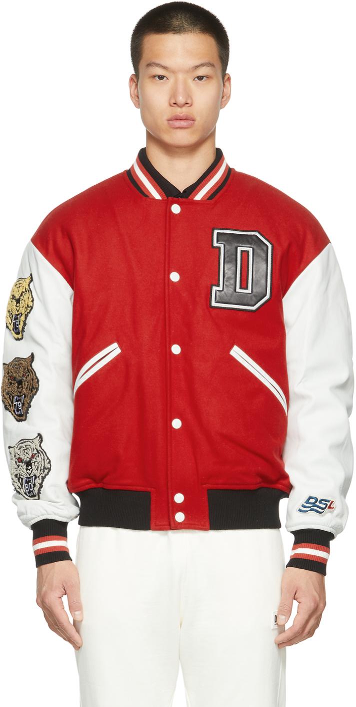 Red & White W-Cash Bomber Jacket