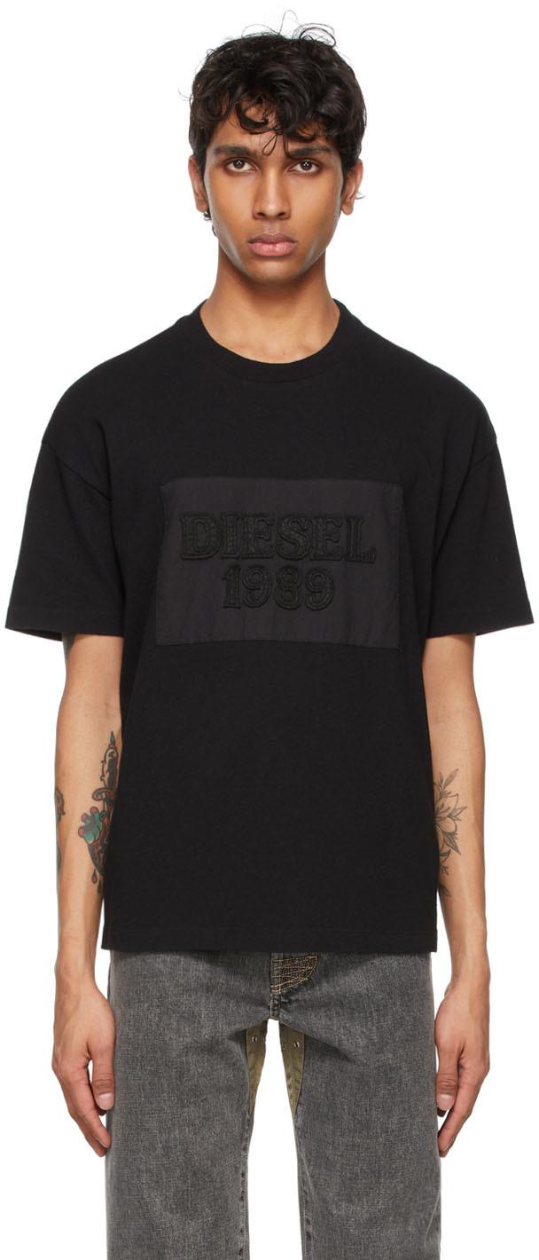 Diesel 黑色 D4D-20 T 恤