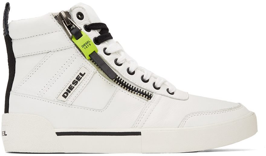 White S-Dvelows High Top Sneakers