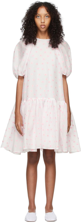 White & Pink Daisy Alexa Dress