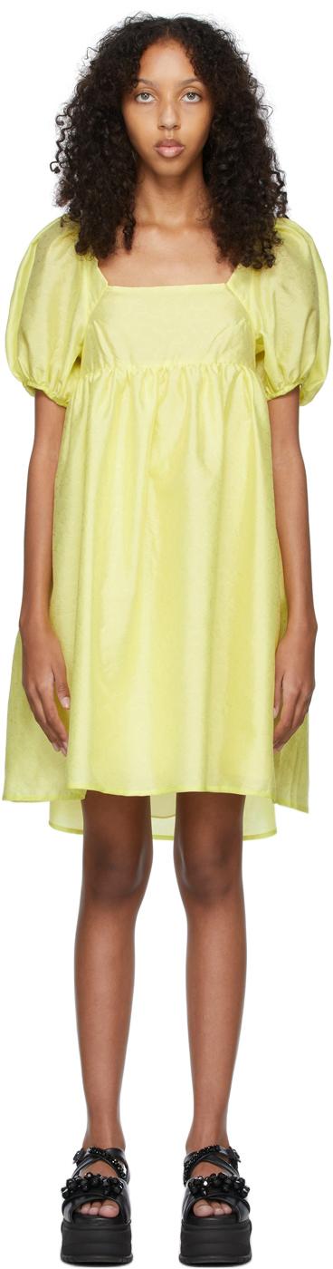 Yellow Matelassé Tilde Dress