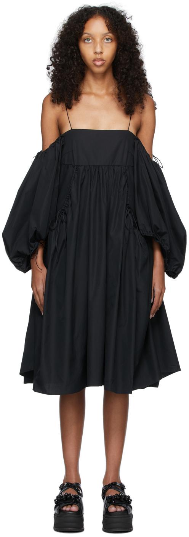 Black Cotton Bethany Dress