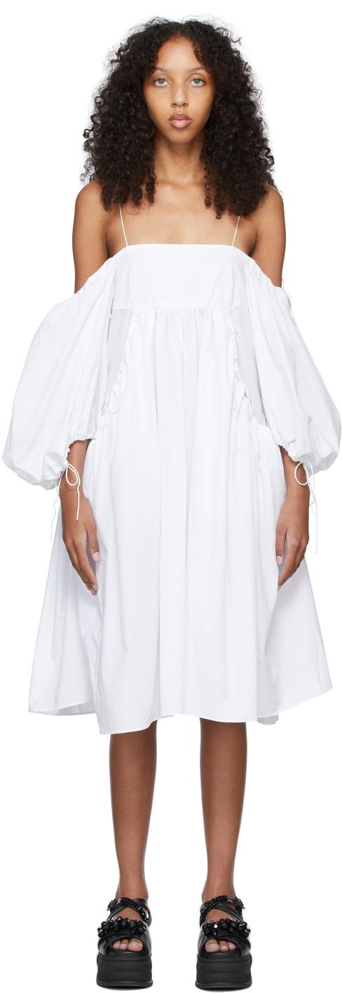 White Cotton Bethany Dress