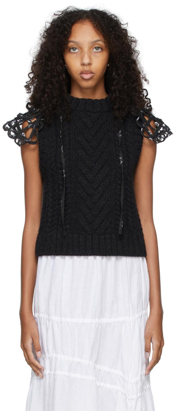 Black Merino Wool Brynlee Vest