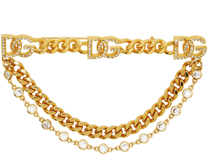 Gold Logo Brooch