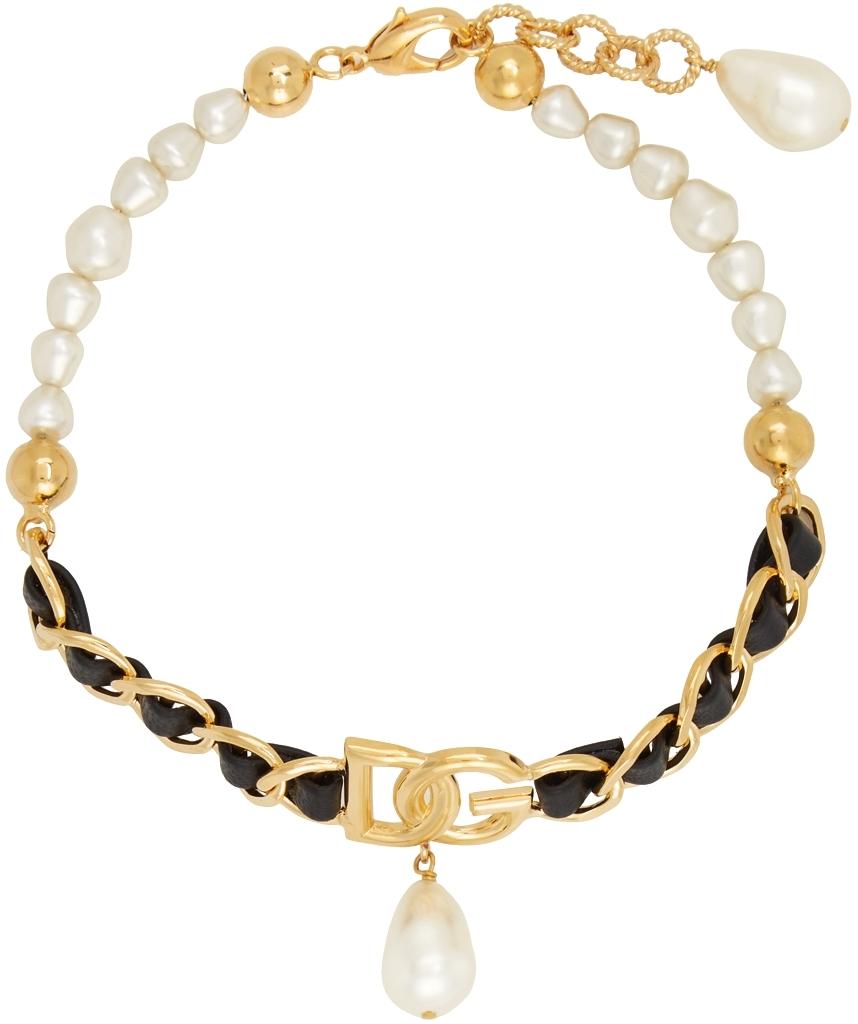 Gold Pearl Embellished Choker
