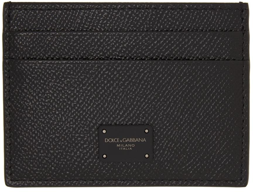 Black Dauphine Credit Card Holder