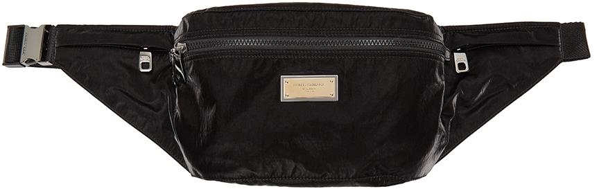 Black Sicilia DNA Nylon Belt Bag