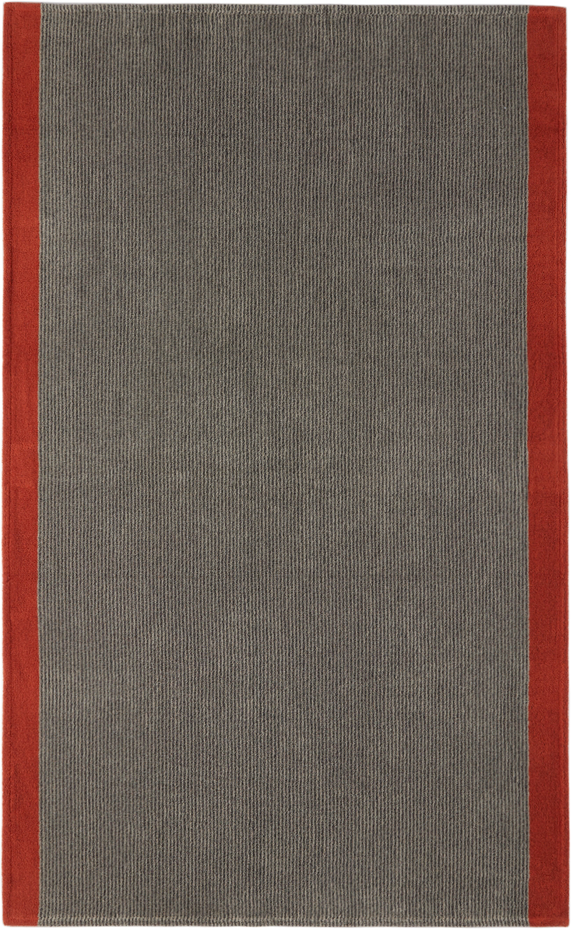 Grey & Red Large Towel