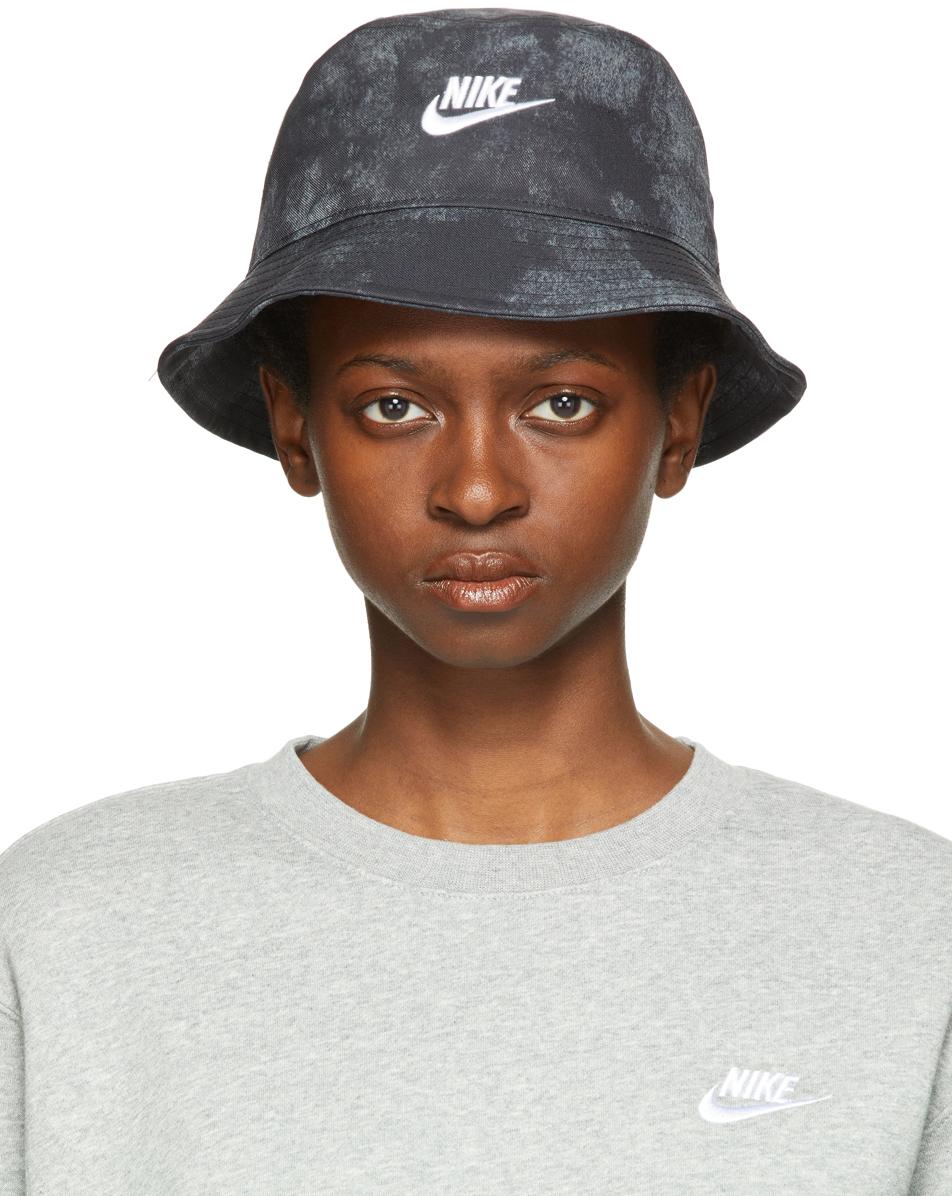 Black Sportswear Tie-Dye Bucket Hat