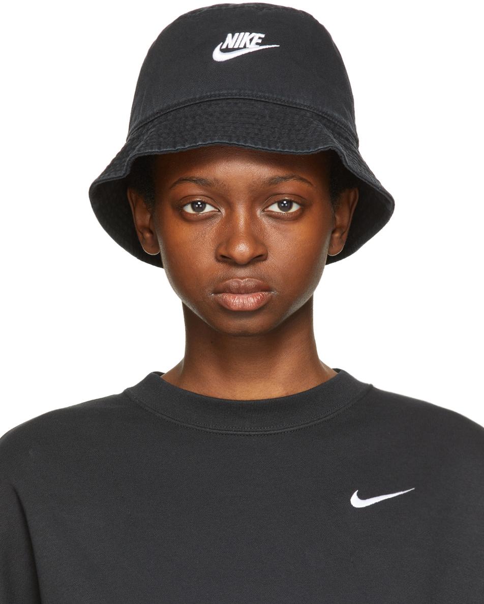 Black Sportswear Bucket Hat