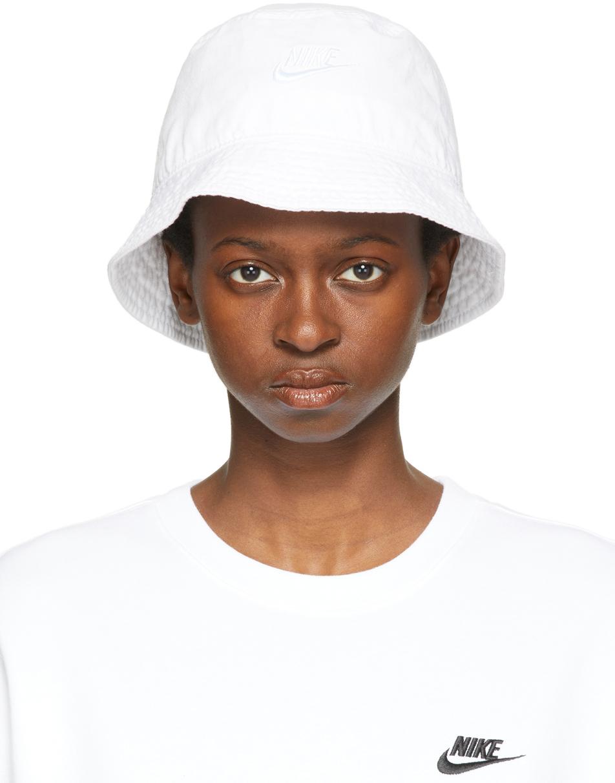 White Sportswear Bucket Hat