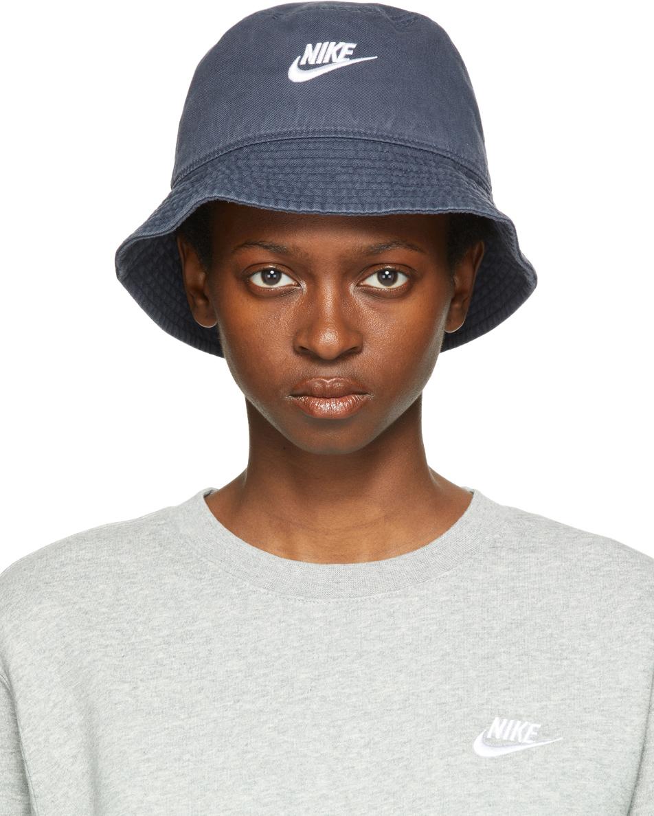 Navy Sportswear Washed Bucket Hat