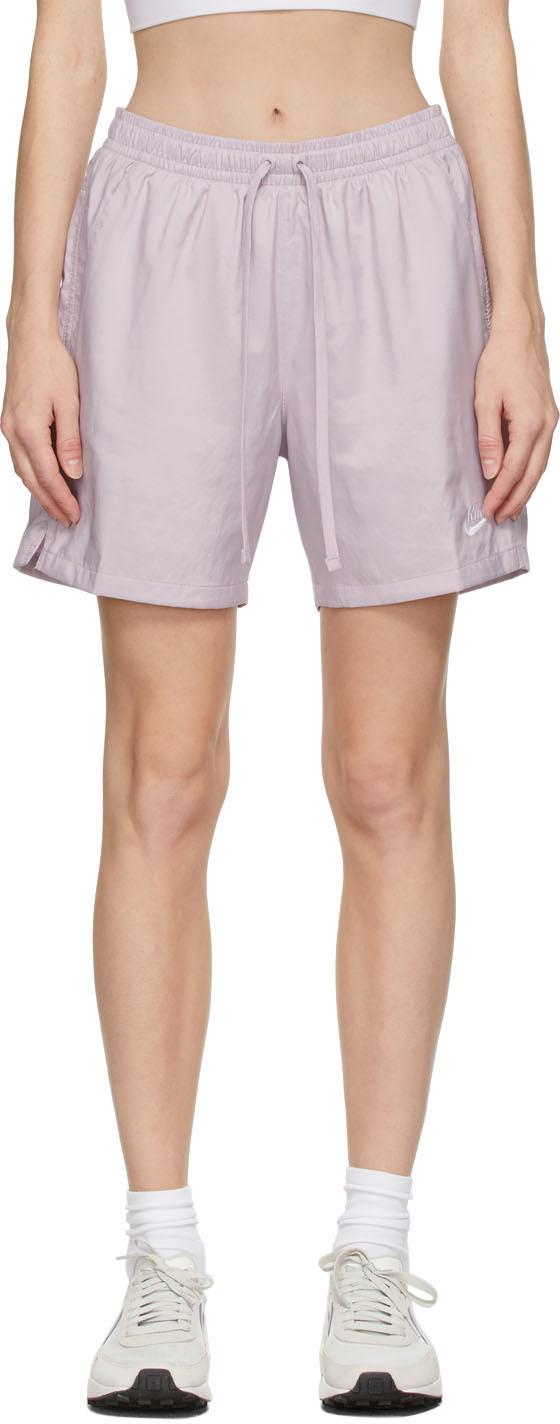 Purple Woven Sportswear Shorts