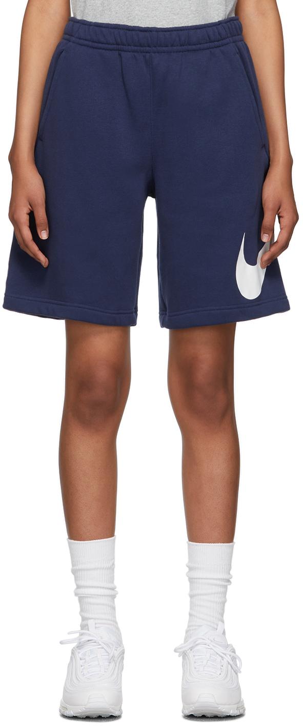 Navy Fleece Sportswear Club Shorts