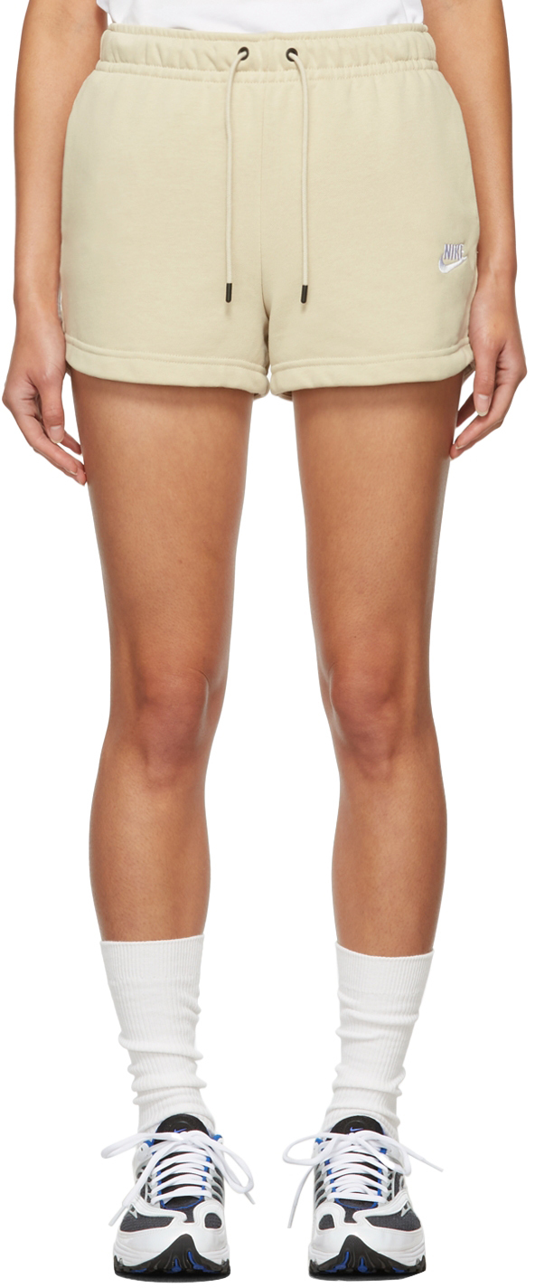 Beige French Terry Sportswear Essential Shorts