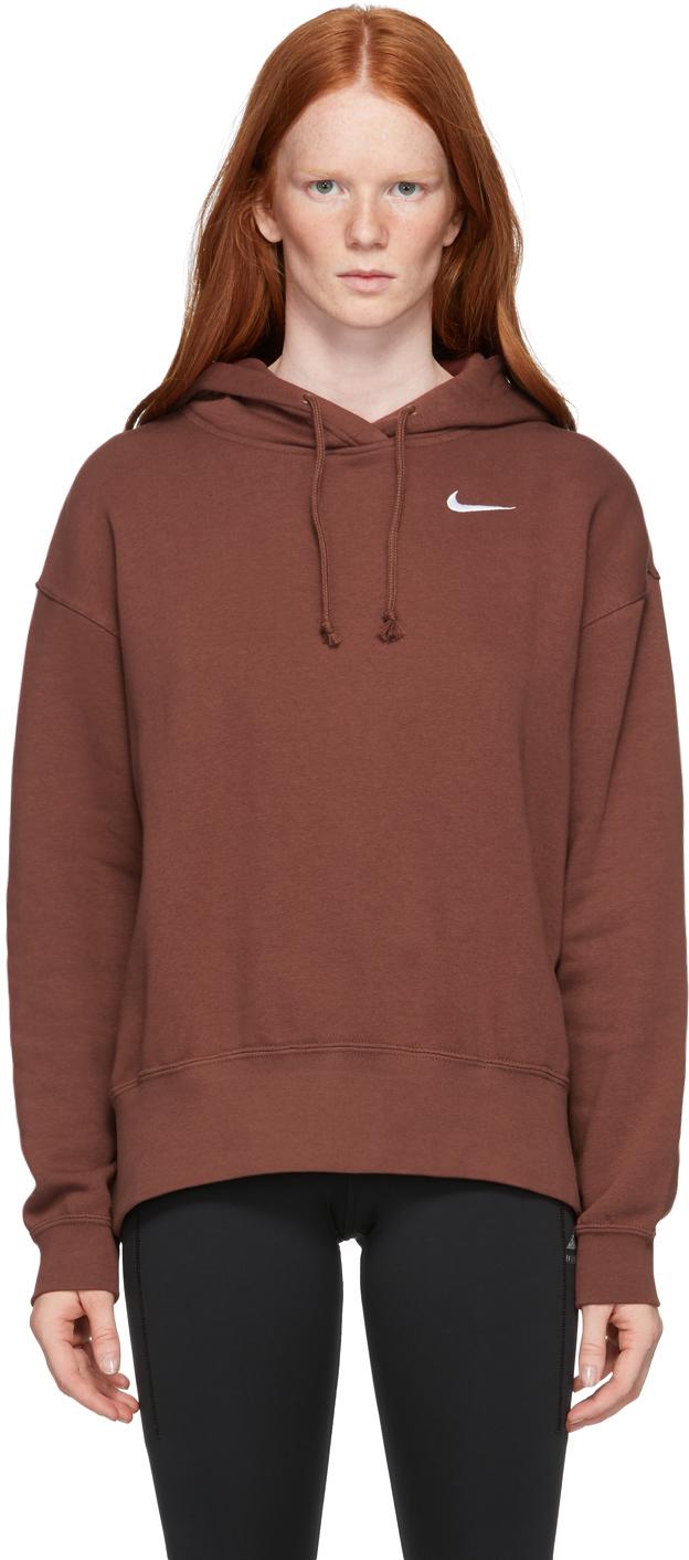 Brown Fleece Sportswear Hoodie
