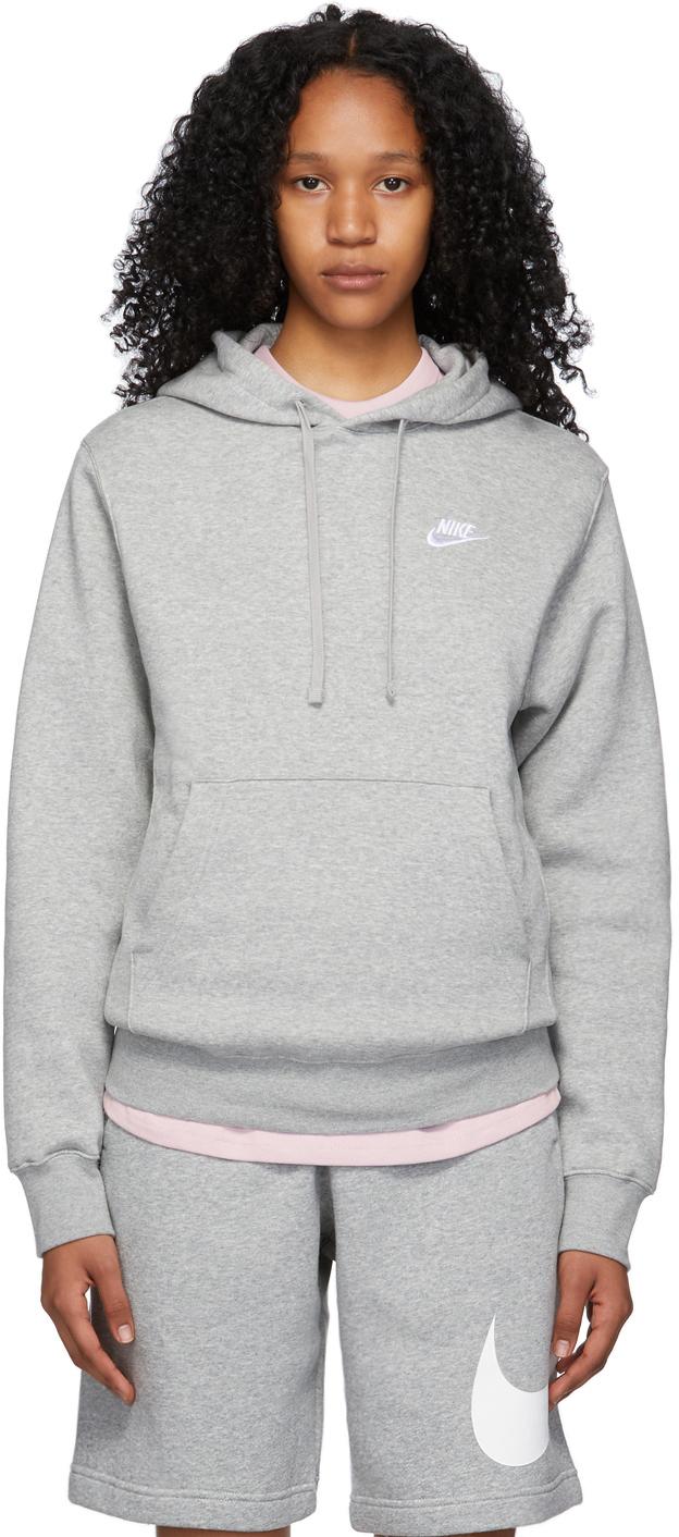 Grey Fleece Sportswear Club Hoodie