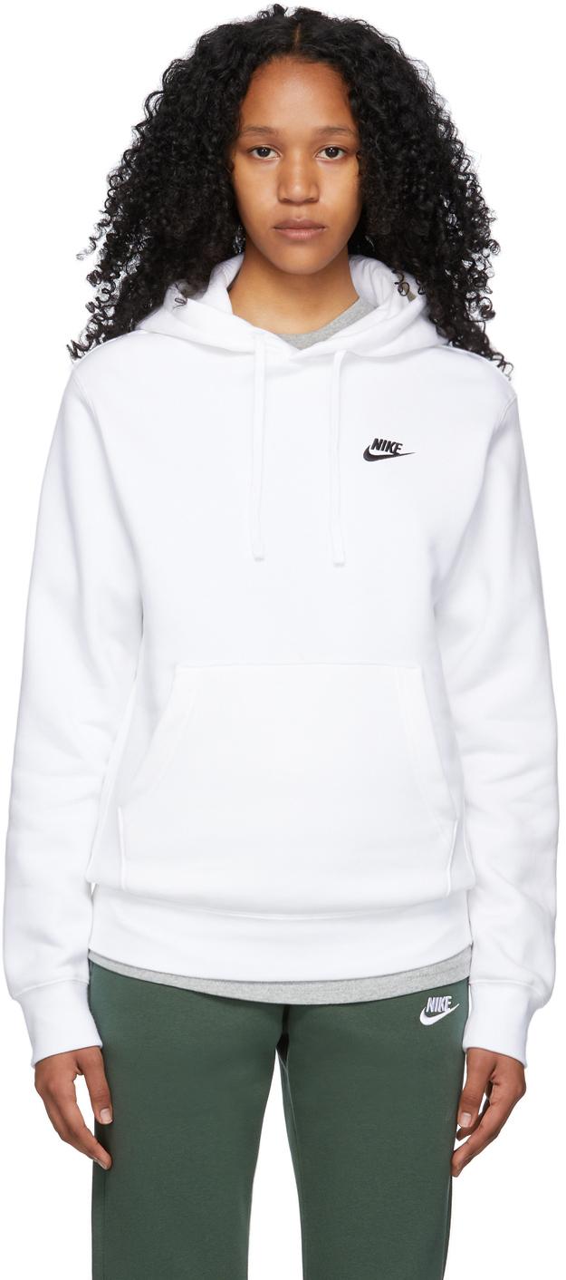 White Fleece Sportswear Club Hoodie