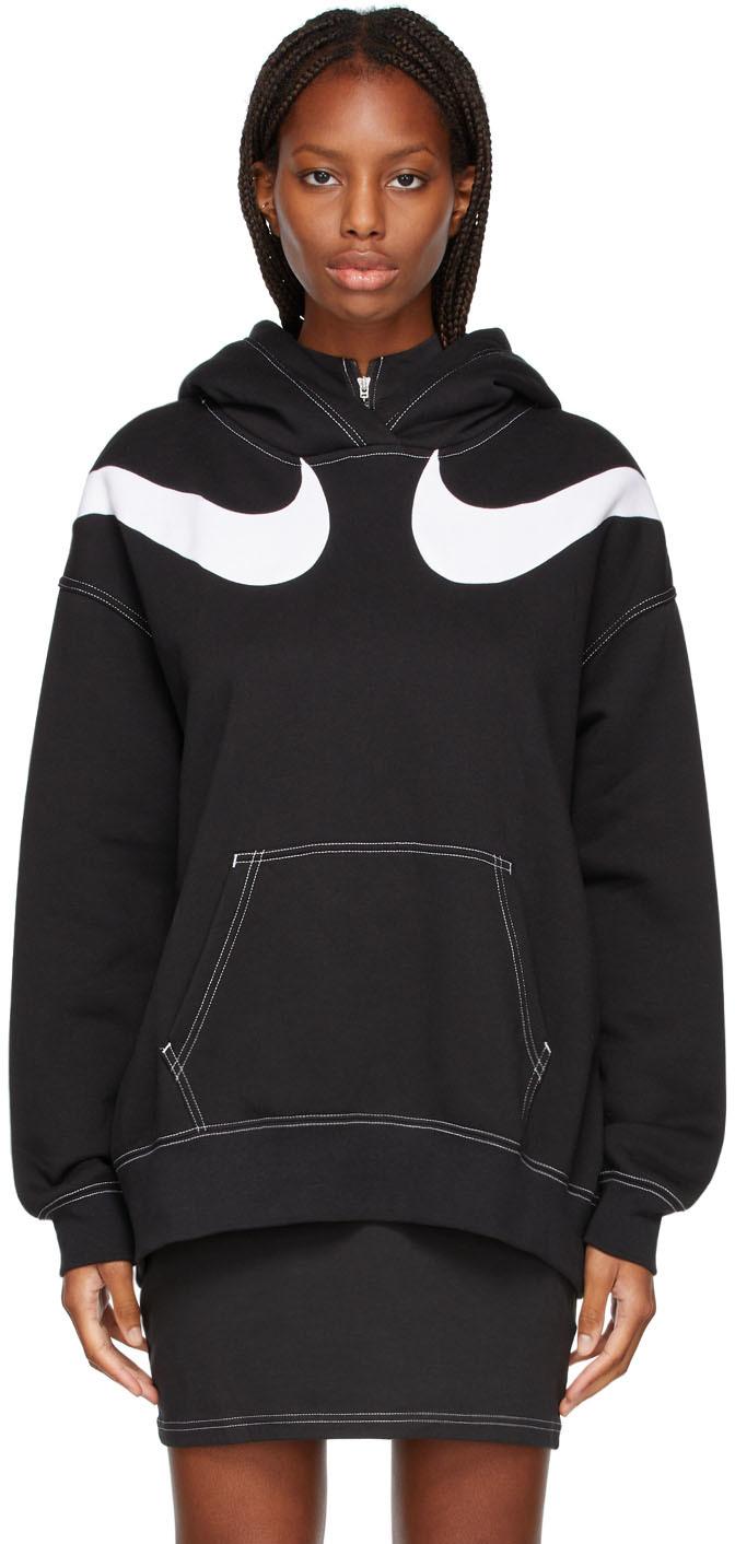 Black Sportswear Swoosh Hoodie