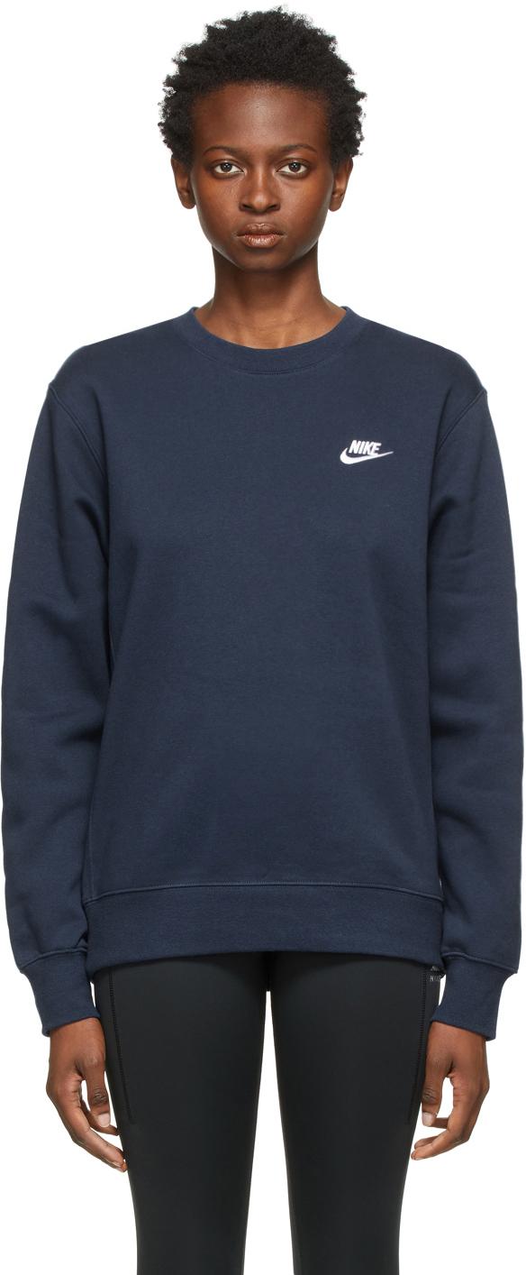 Navy Fleece Sportswear Club Sweatshirt