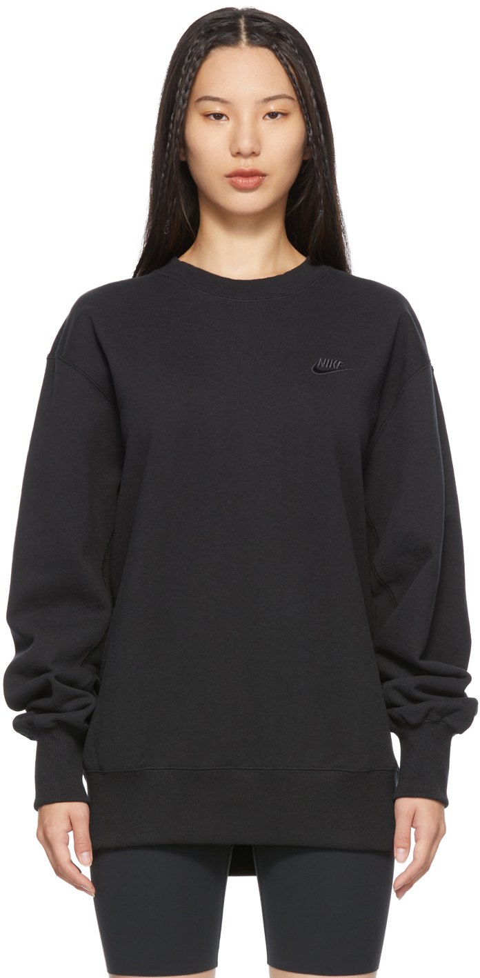 Black Classic Fleece Sportswear Sweatshirt