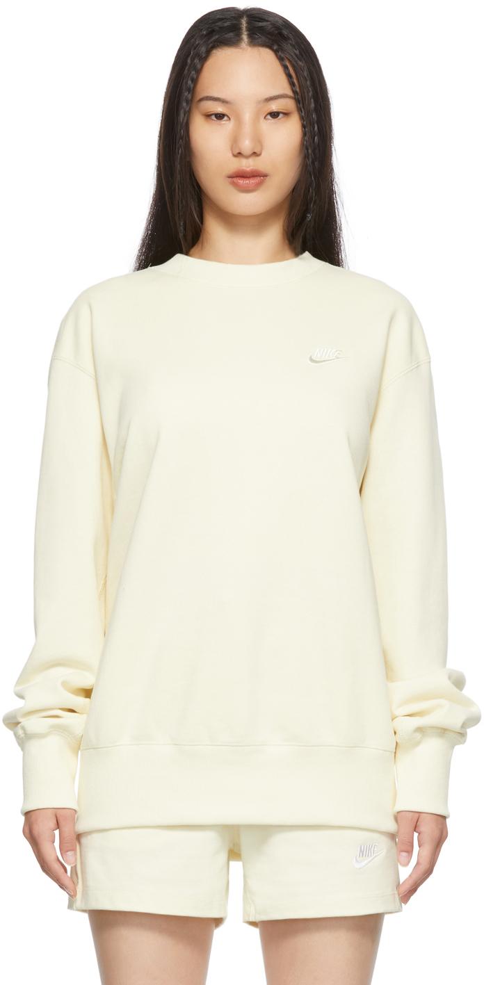 Yellow Classic Fleece Sportswear Sweatshirt