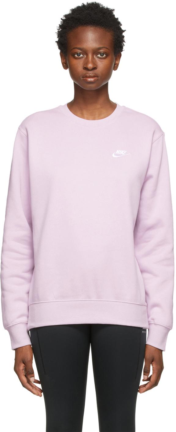 Purple Fleece Sportswear Club Sweatshirt