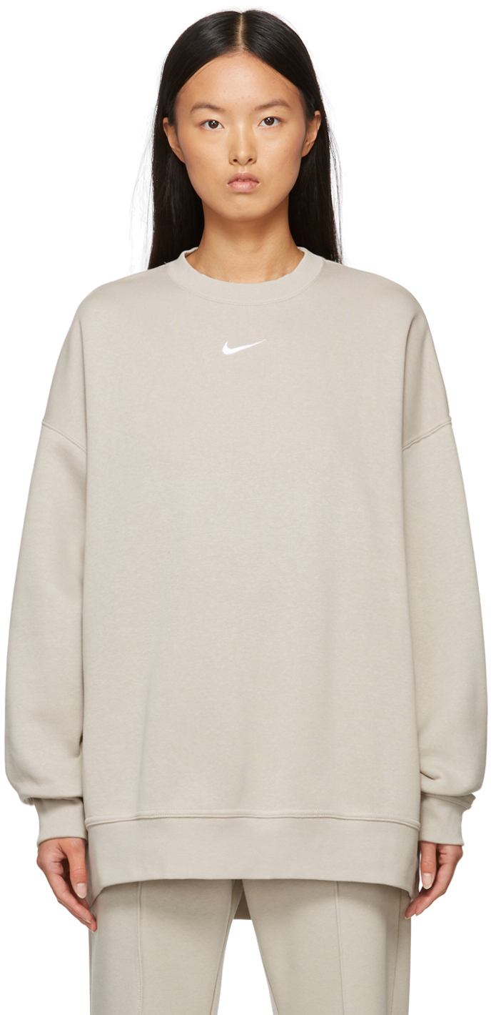 Taupe Oversized Sportswear Essential Sweatshirt