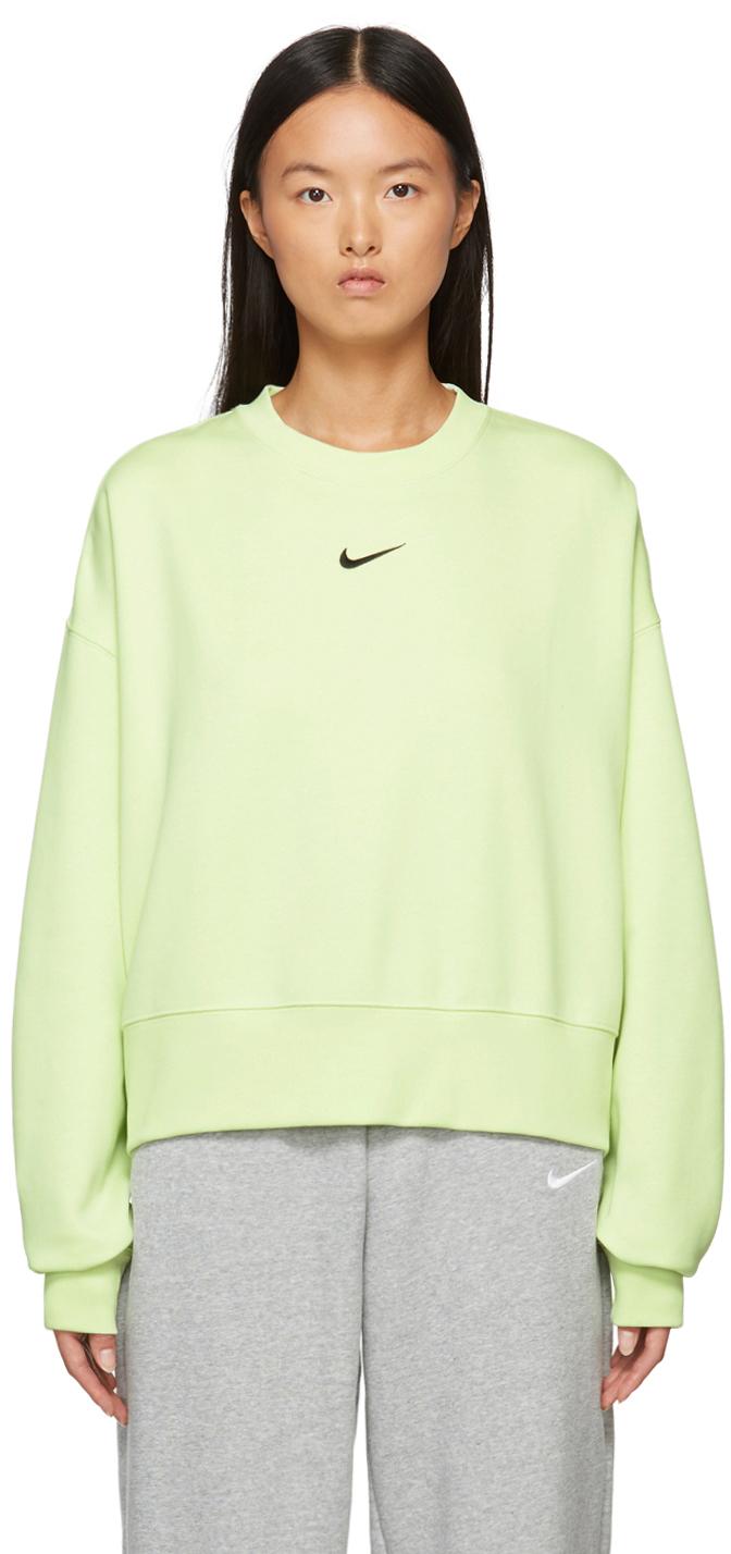 Green Sportswear Essential Cropped Sweatshirt