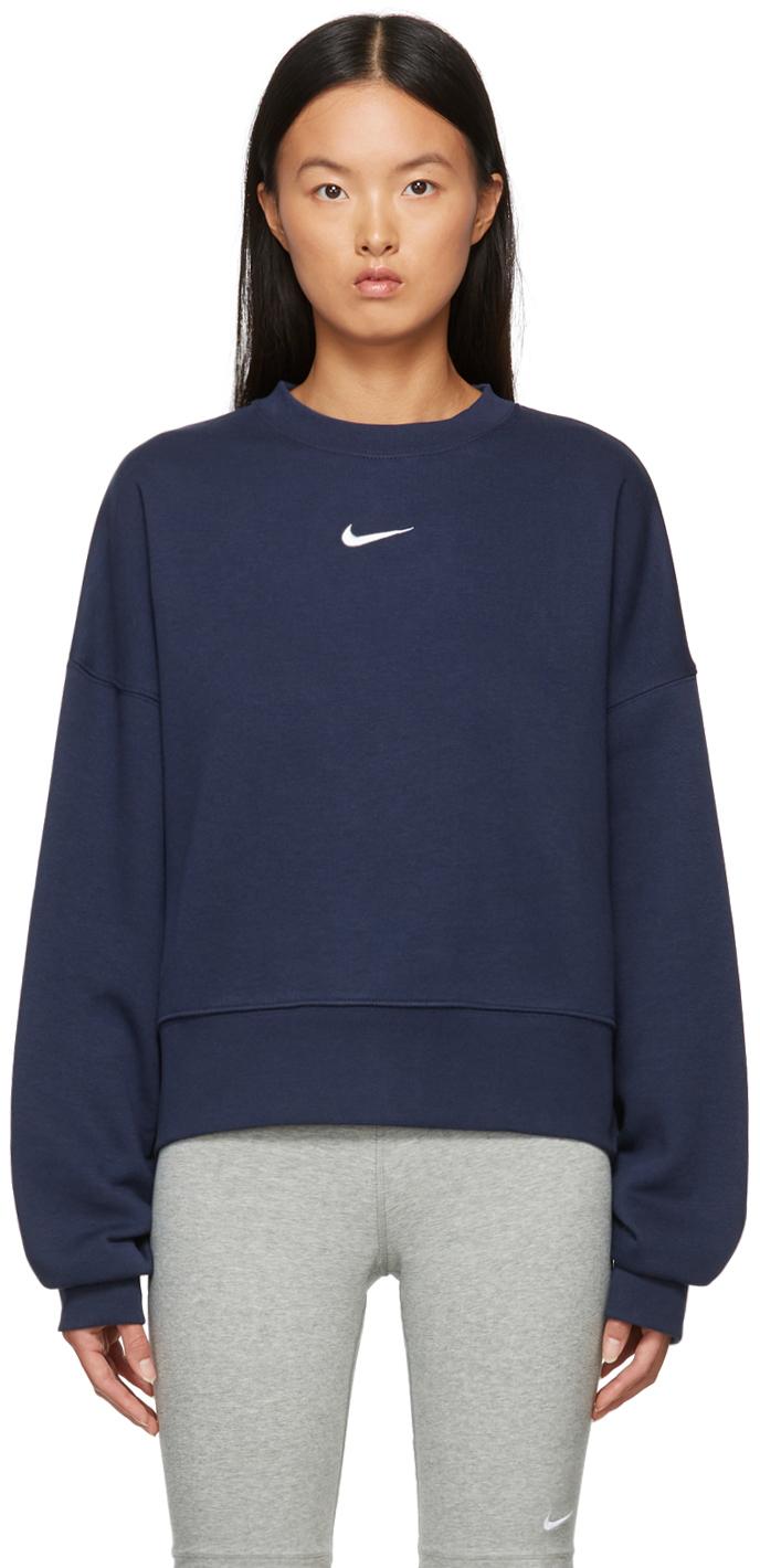 Blue Sportswear Essential Cropped Sweatshirt