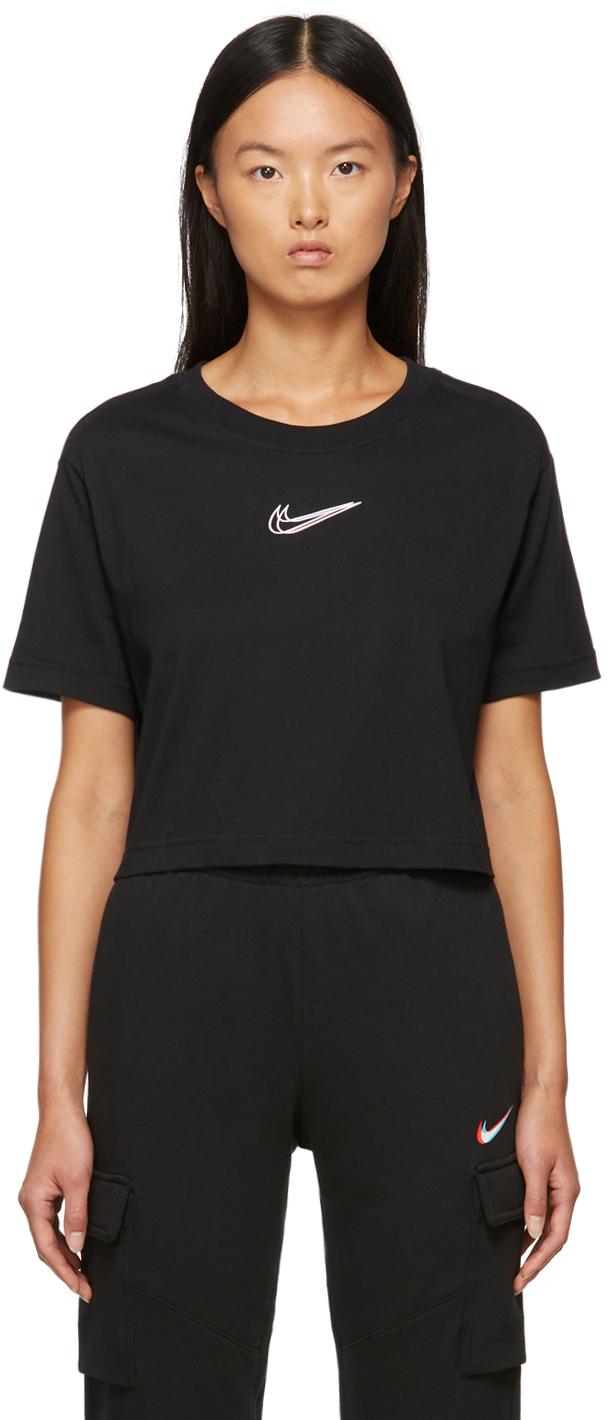 Black Sportswear Cropped Dance T-Shirt