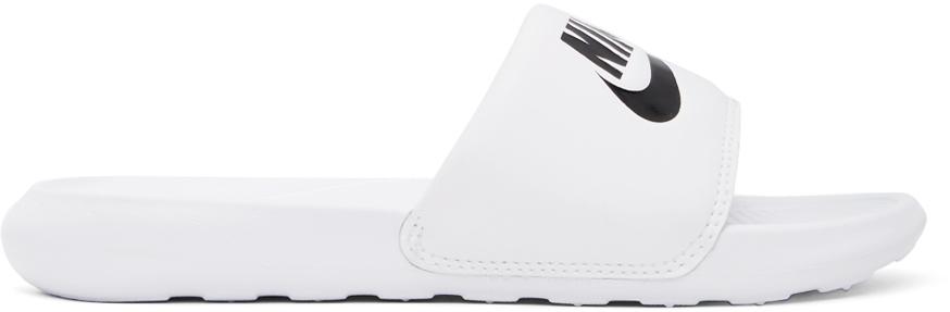 Nike White Slide Victori One Sandals