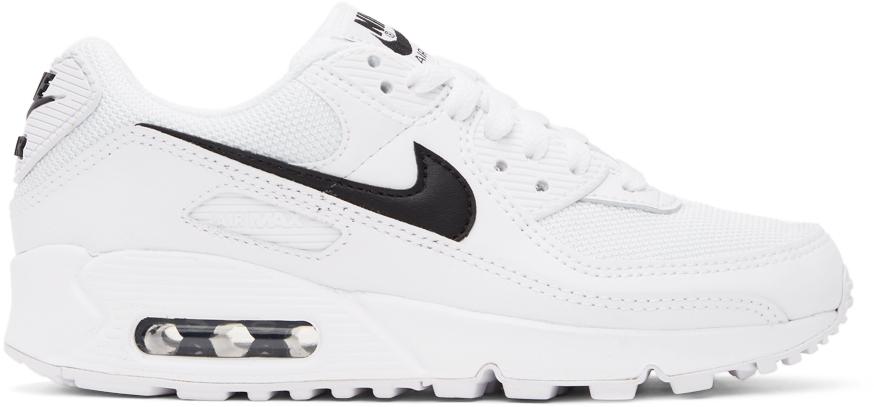 White & Black Air Max 90 Sneakers
