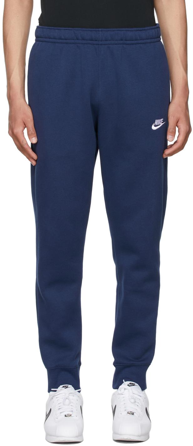 Navy Fleece Sportswear Club Lounge Pants