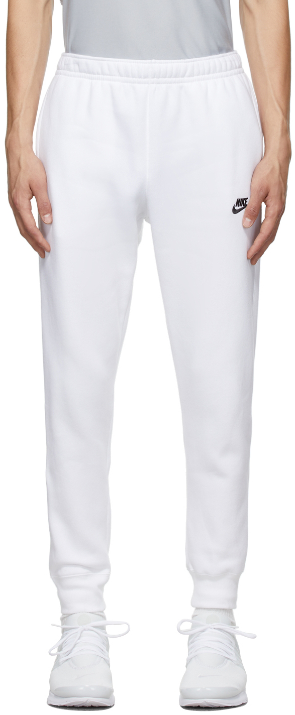White Sportswear Club Lounge Pants