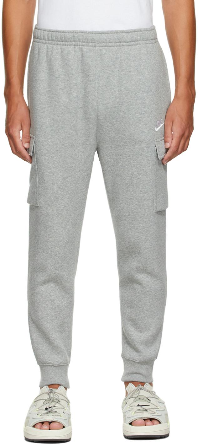 Grey Fleece Sportswear Club Cargo Lounge Pants