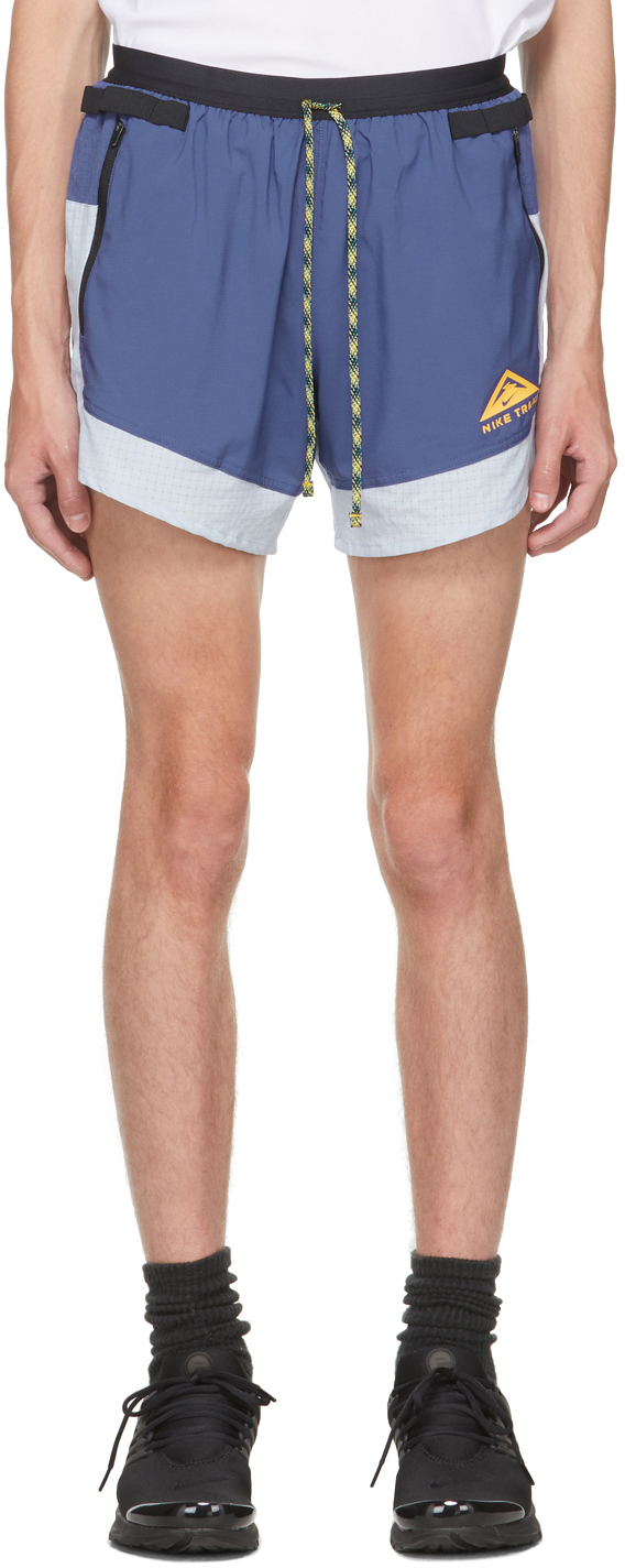 Purple & Grey Dri-FIT Flex Stride Trail Shorts