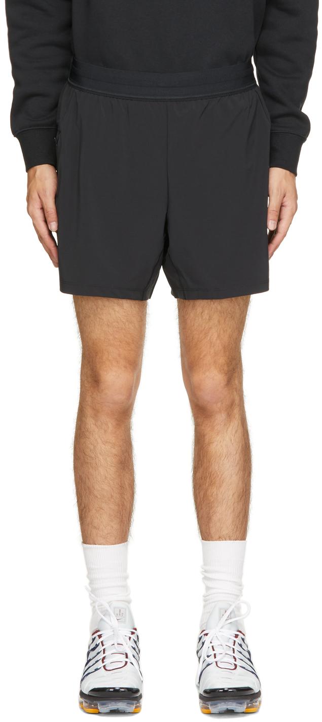 Black 2-in-1 Yoga Shorts