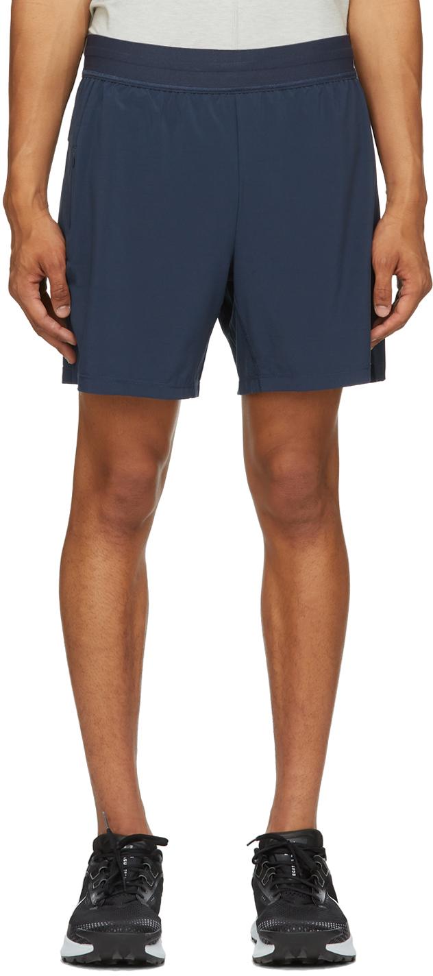 Navy 2-in-1 Yoga Shorts
