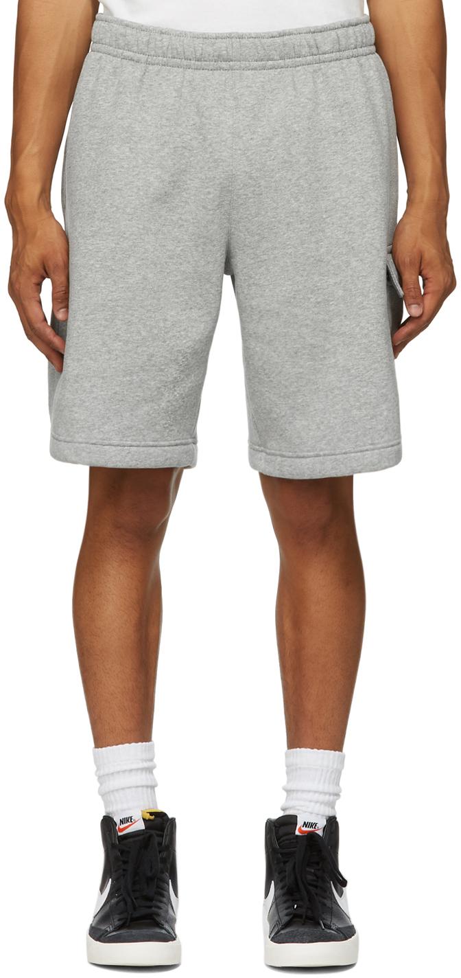 Grey Fleece Sportswear Club Cargo Shorts