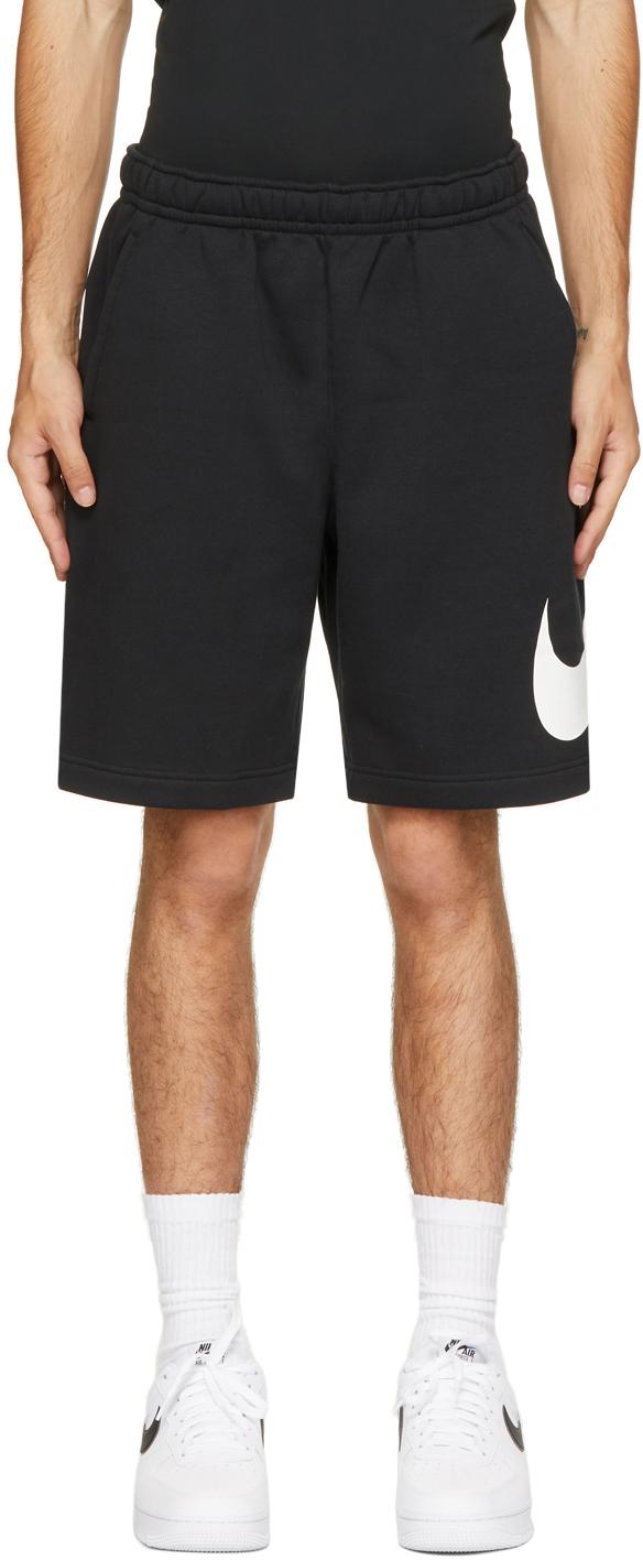 Black & White Fleece Sportswear Club Shorts