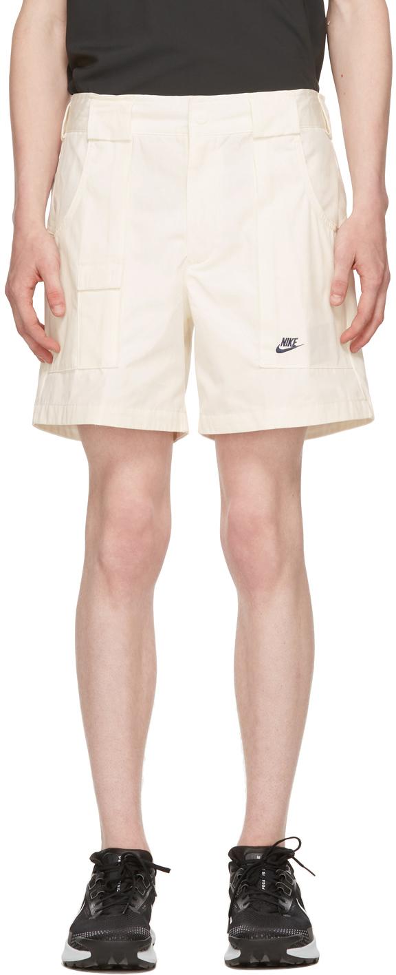 White Canvas Shorts