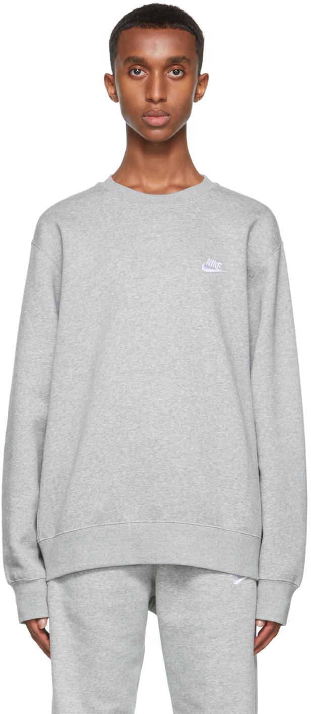 Grey Fleece Sportswear Club Sweatshirt